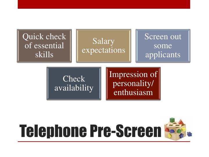 Telephone Pre-Screen