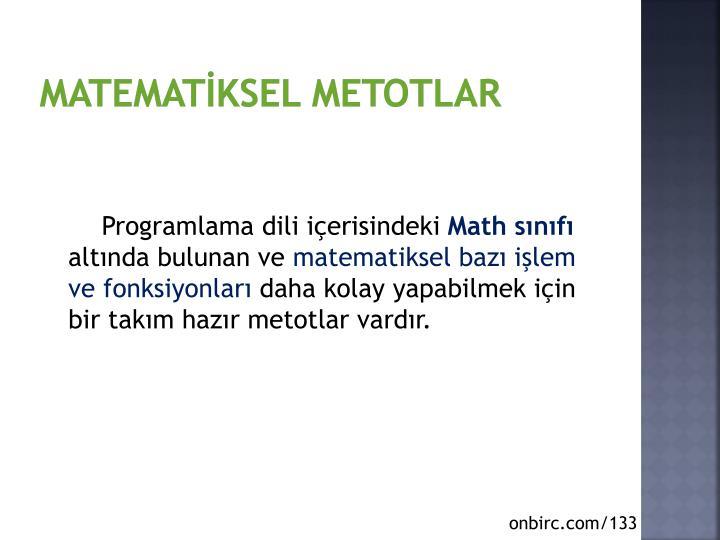 Matematİksel