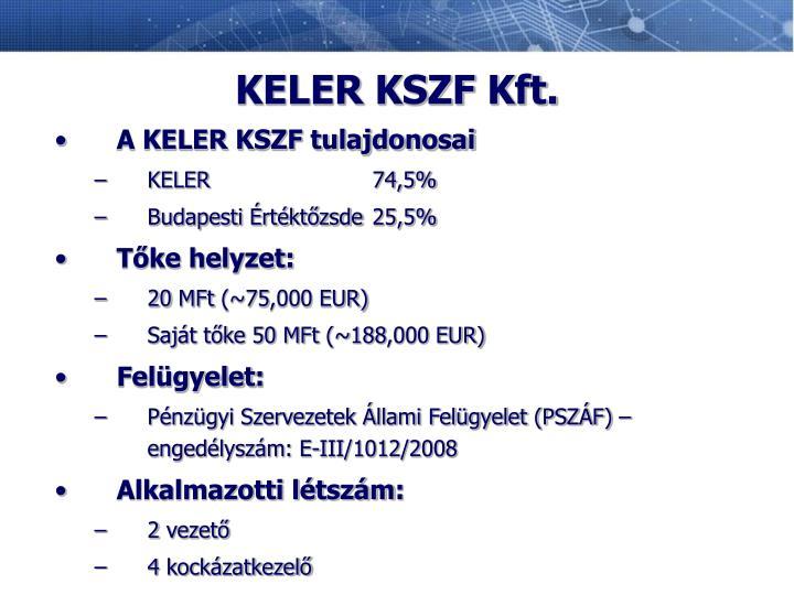 KELER KSZF Kft.