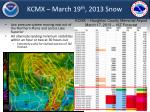 kcmx march 19 th 2013 snow