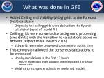 what was done in gfe