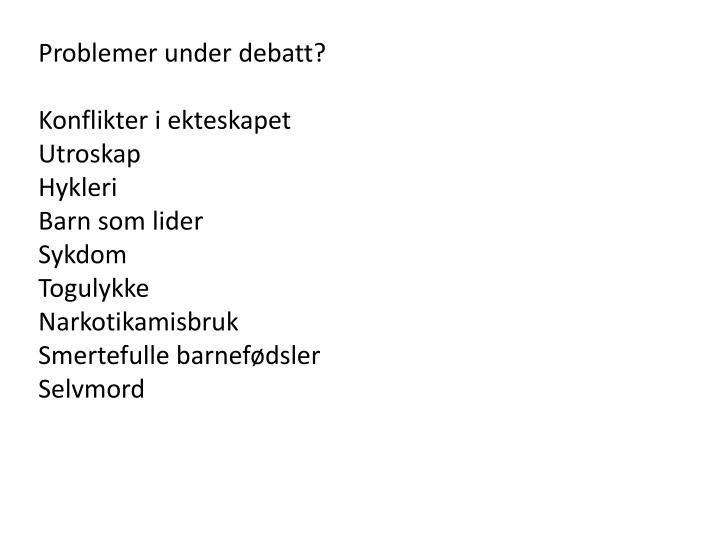 Problemer under debatt?