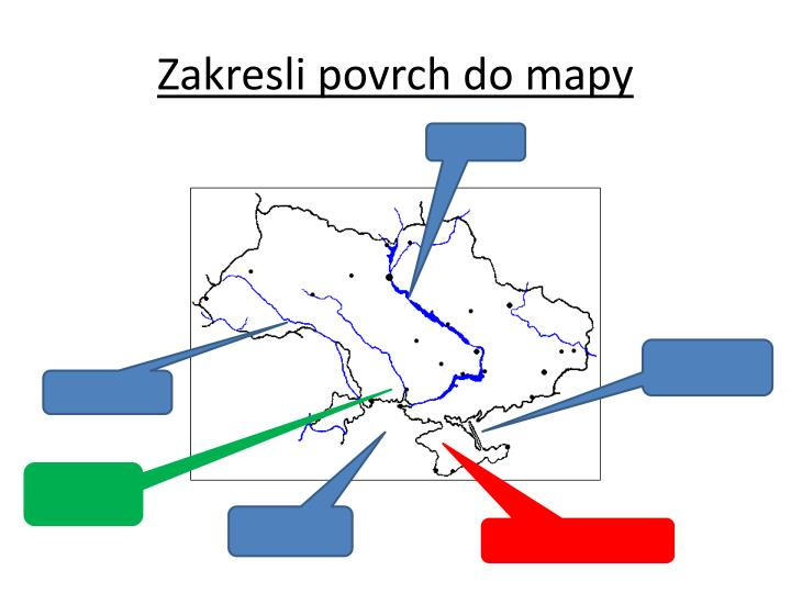 Zakresli povrch do mapy