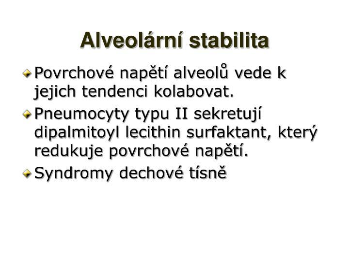 Alveolární stabilita