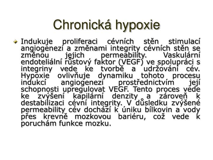 Chronická hypoxie