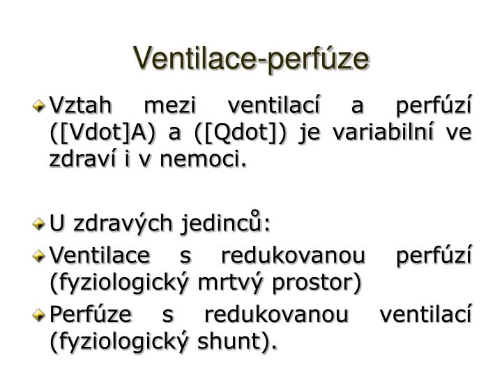 Ventilace-perfúze