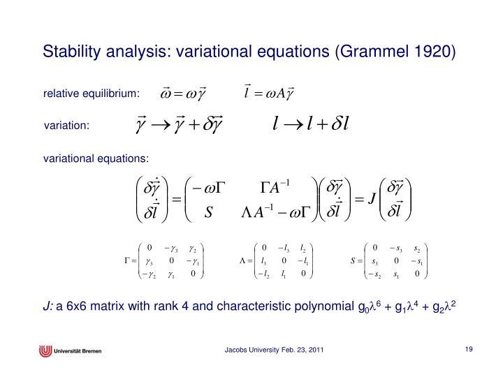 relative equilibrium:
