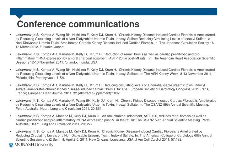 Conference communications