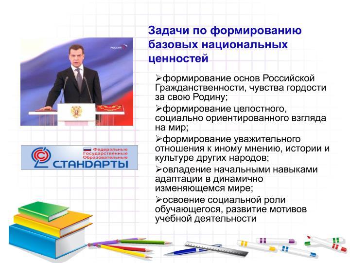 формирование основ Российской Гражданственности, чувства гордости за свою Родину;