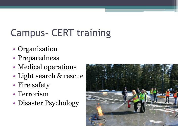 Campus- CERT training