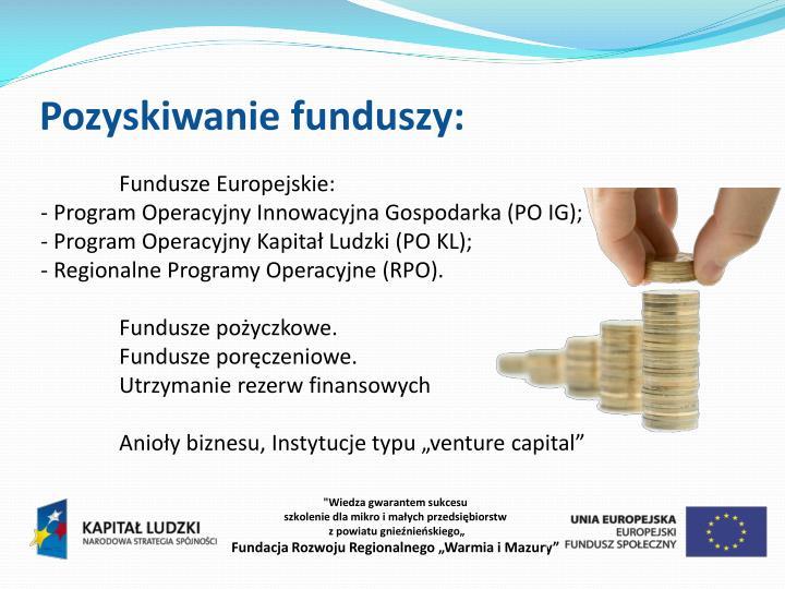 Pozyskiwanie funduszy: