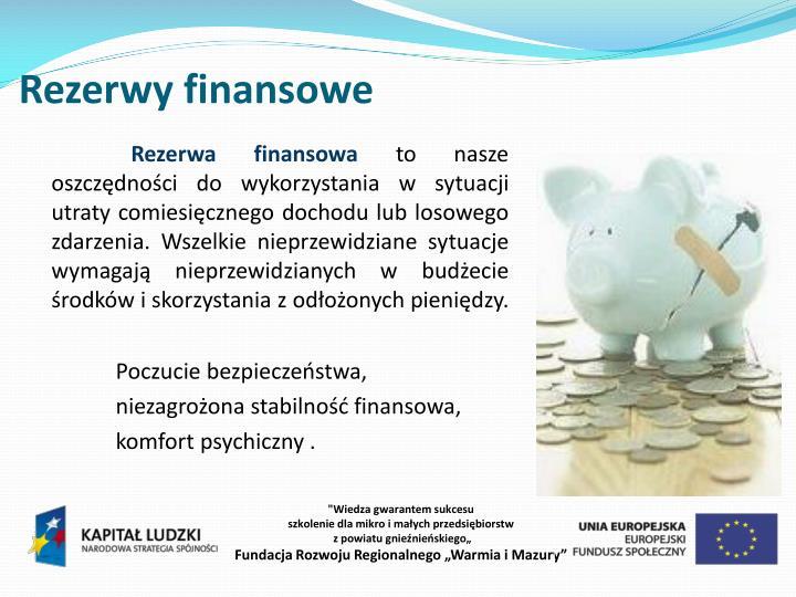Rezerwy finansowe