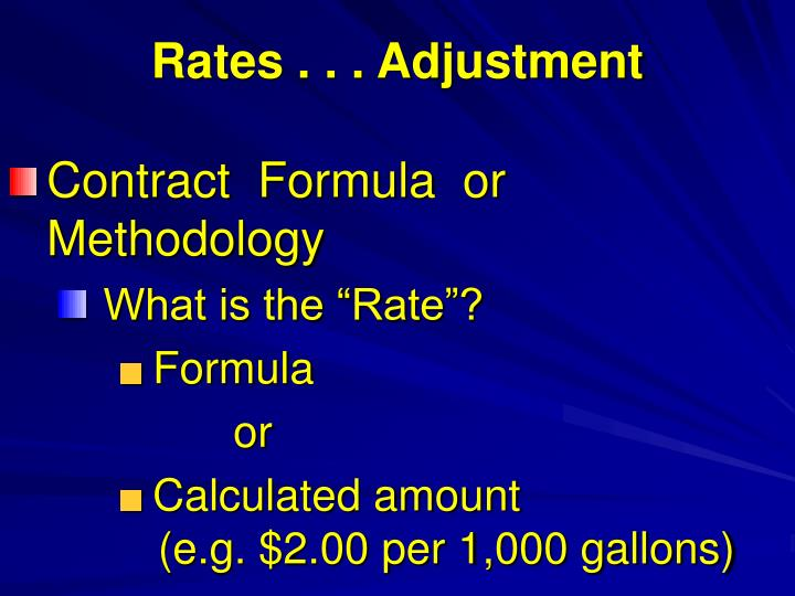 Rates . . . Adjustment