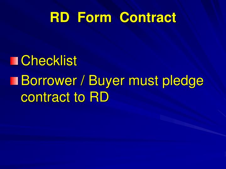 RD  Form  Contract