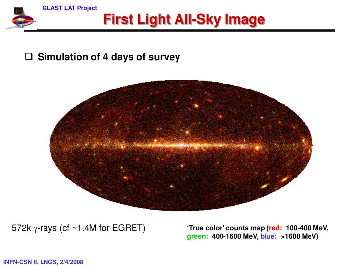 First Light All-Sky Image