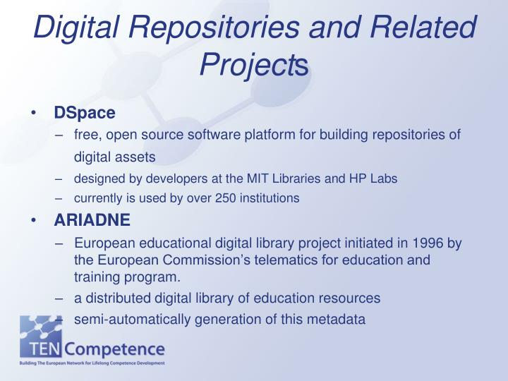 Digital repositories and related project s