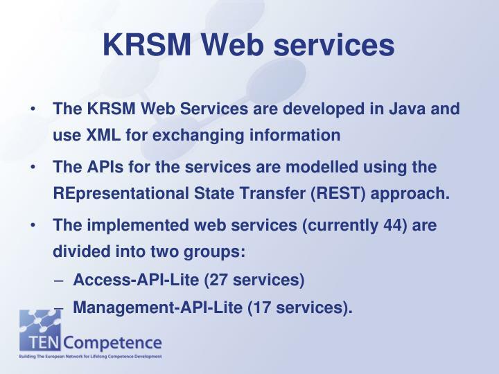 KRSM Web services