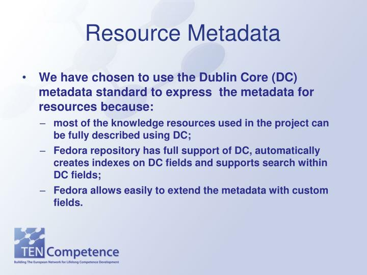 Resource Metadata