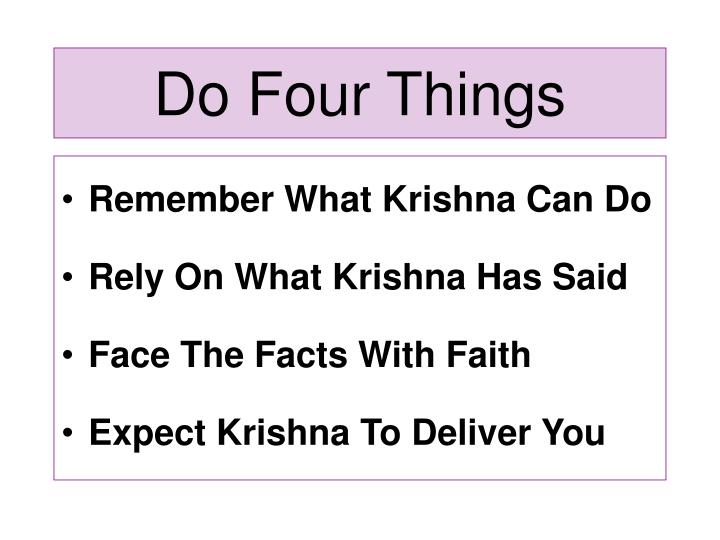 Do Four Things