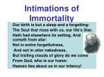intimations of immortality