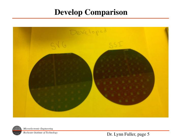 Develop Comparison
