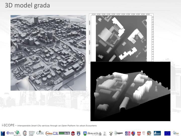 3D model grada