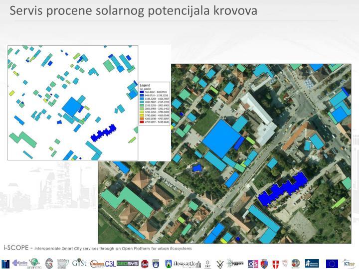 Servis procene solarnog potencijala krovova