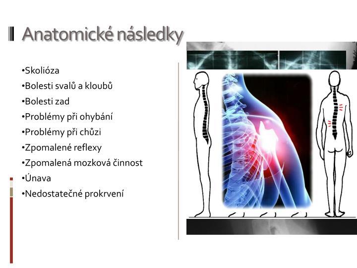 Anatomické následky