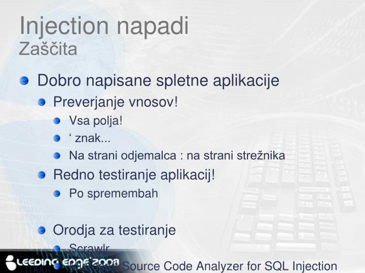 Injection napadi