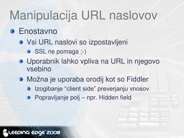 Manipulacija URL naslovov