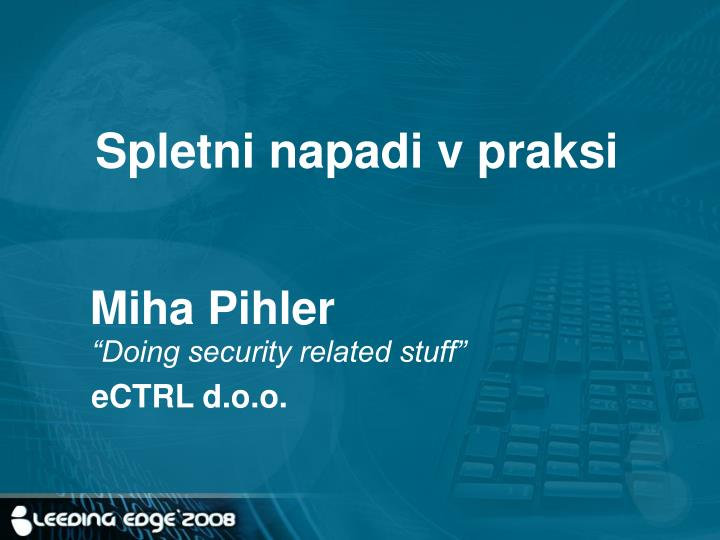 Spletni napadi v praksi