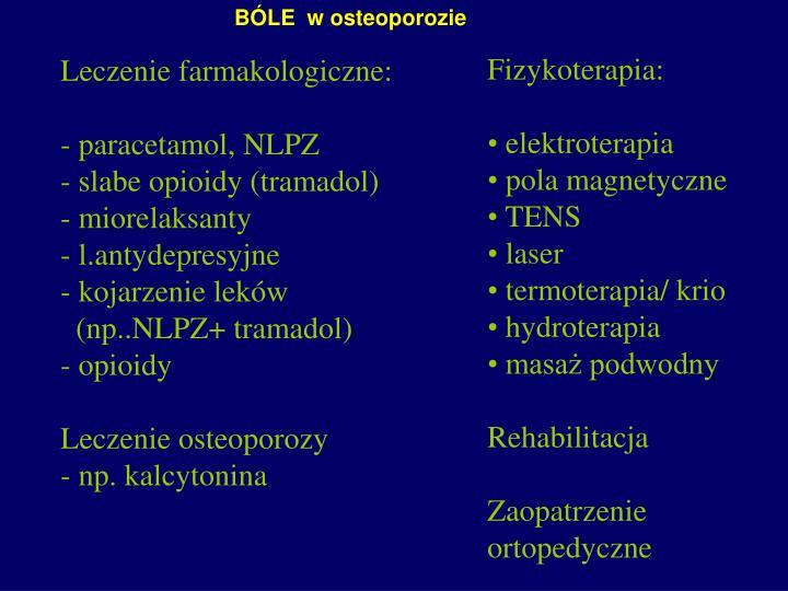 BÓLE  w osteoporozie
