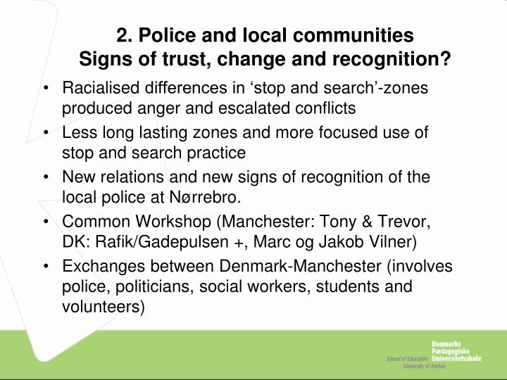 2. Police and local communities