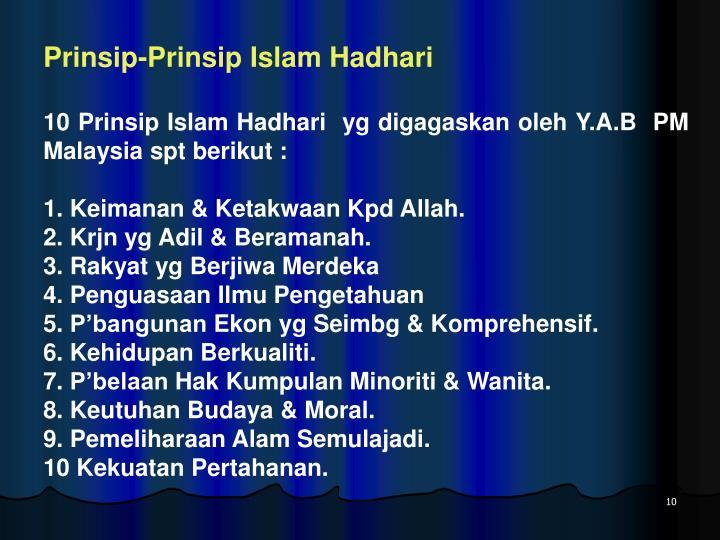 Prinsip-Prinsip Islam Hadhari