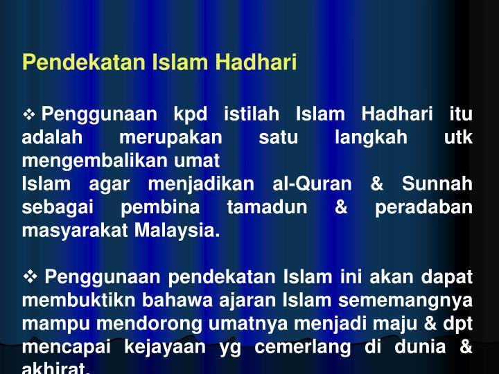 Pendekatan Islam Hadhari