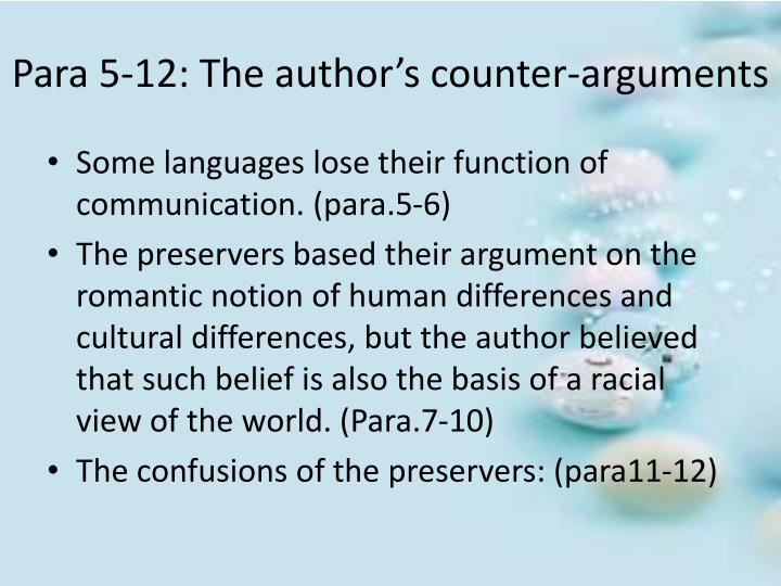 Para 5-12: The author's counter-arguments