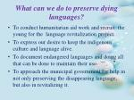 what can we do to preserve dying languages