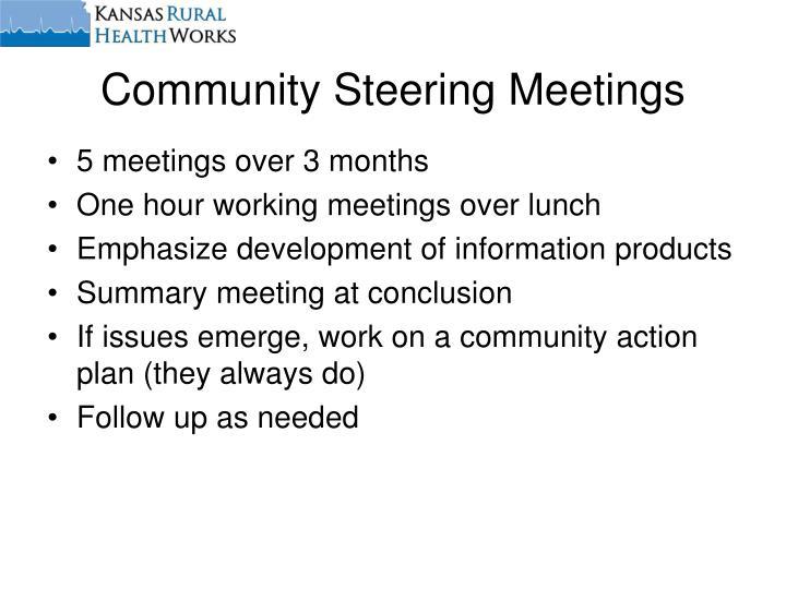 Community Steering Meetings