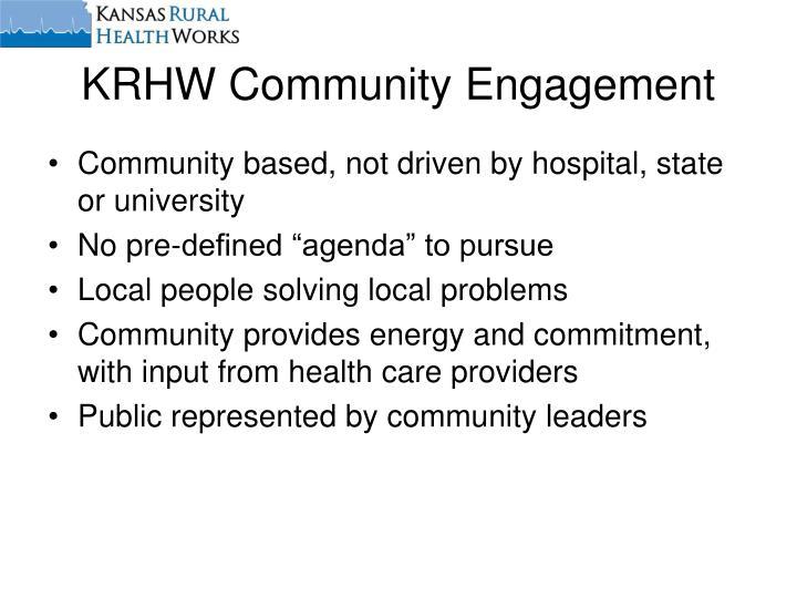 KRHW Community Engagement