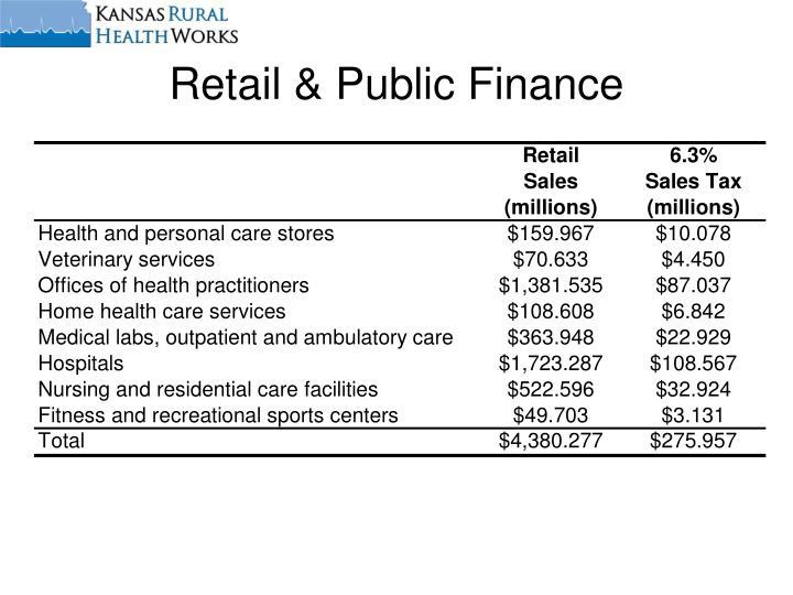 Retail & Public Finance