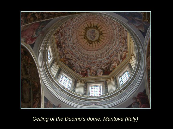 Ceiling of the Duomo's dome, Mantova (Italy)