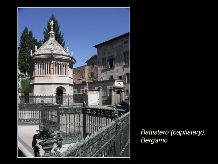 Battistero (baptistery), Bergamo