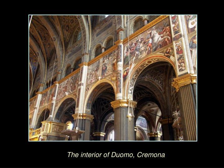 The interior of Duomo, Cremona