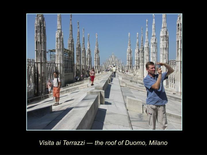 Visita ai Terrazzi ― the roof of Duomo, Milano