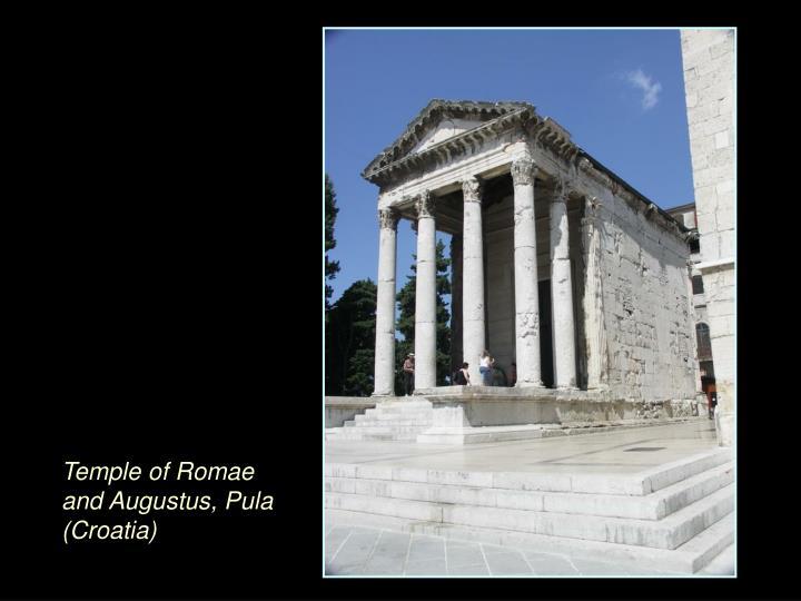 Temple of Romae and Augustus, Pula (Croatia)