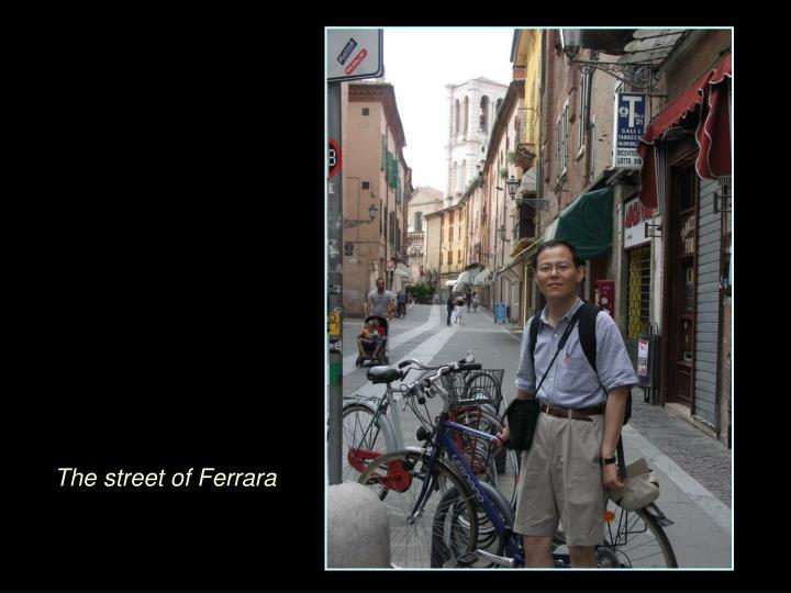 The street of Ferrara