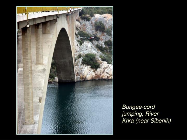Bungee-cord jumping, River Krka (near Sibenik)