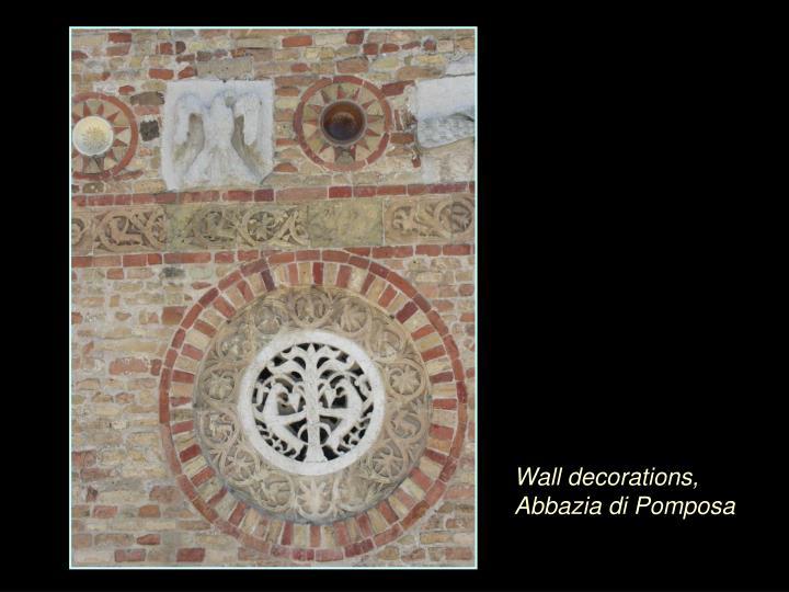 Wall decorations, Abbazia di Pomposa