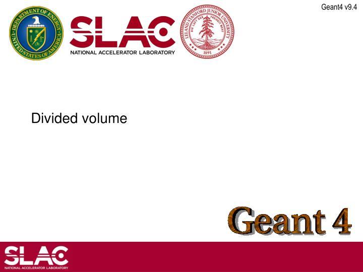 Divided volume