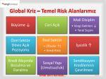 global kriz temel risk alanlar m z